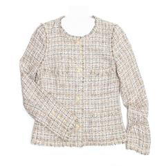 Chanel Multicolor Cotton Tweed Jacket