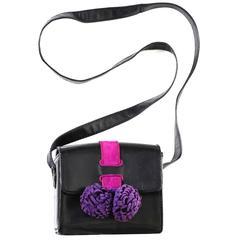 Rare Style Maud Frizon Vintage Handbag Shoulder Bag Pom Poms 1980s