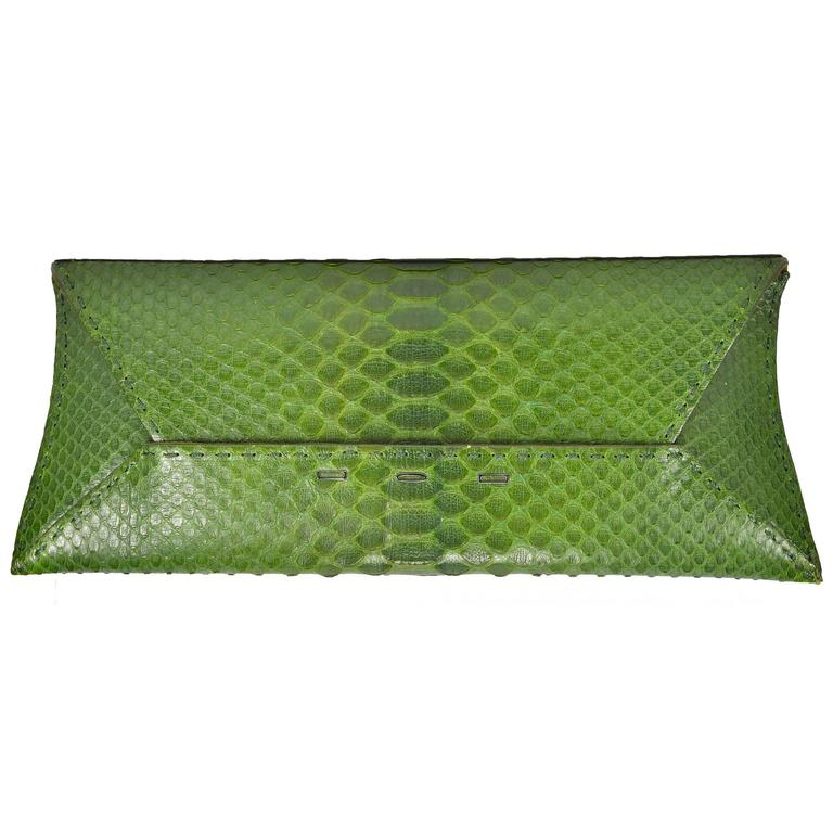 Spring Green Python VBH Clutch 1