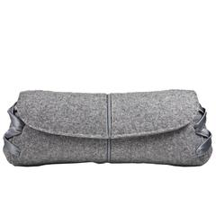 Chic Grey Flannel VBH Clutch