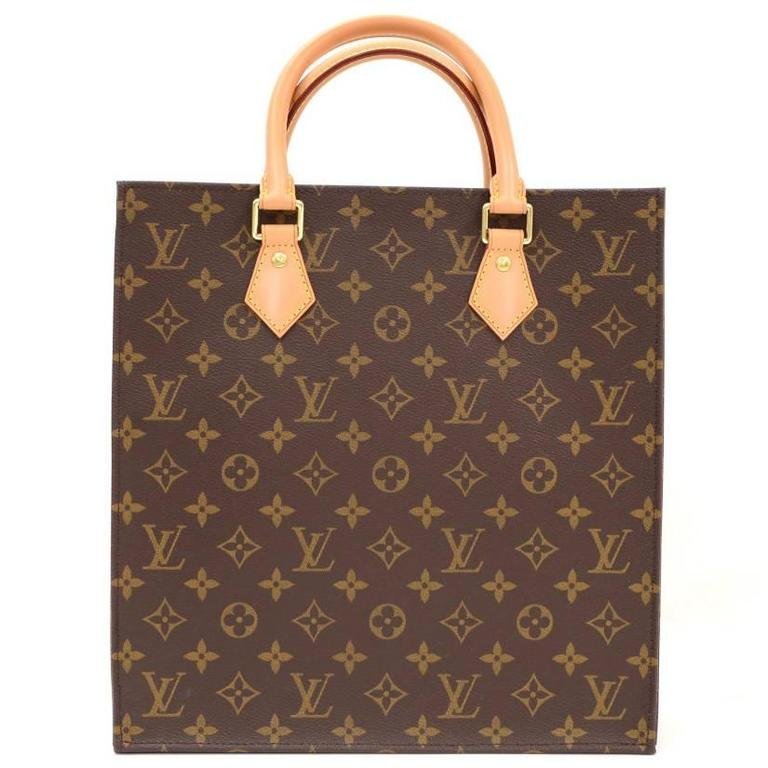 Louis vuitton sac plat monogram canvas medium tote hand for Louis vuitton monogram miroir sac plat