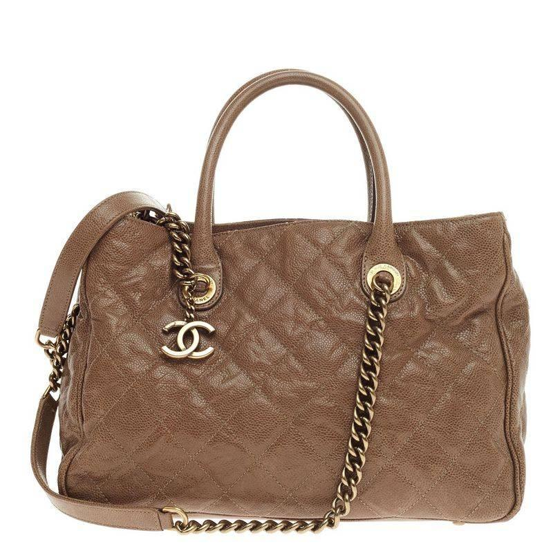 68efe4643718 Chanel Shiva Tote Quilted Caviar Medium at 1stdibs
