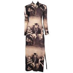 McQueen Dante Blind Colony Dress