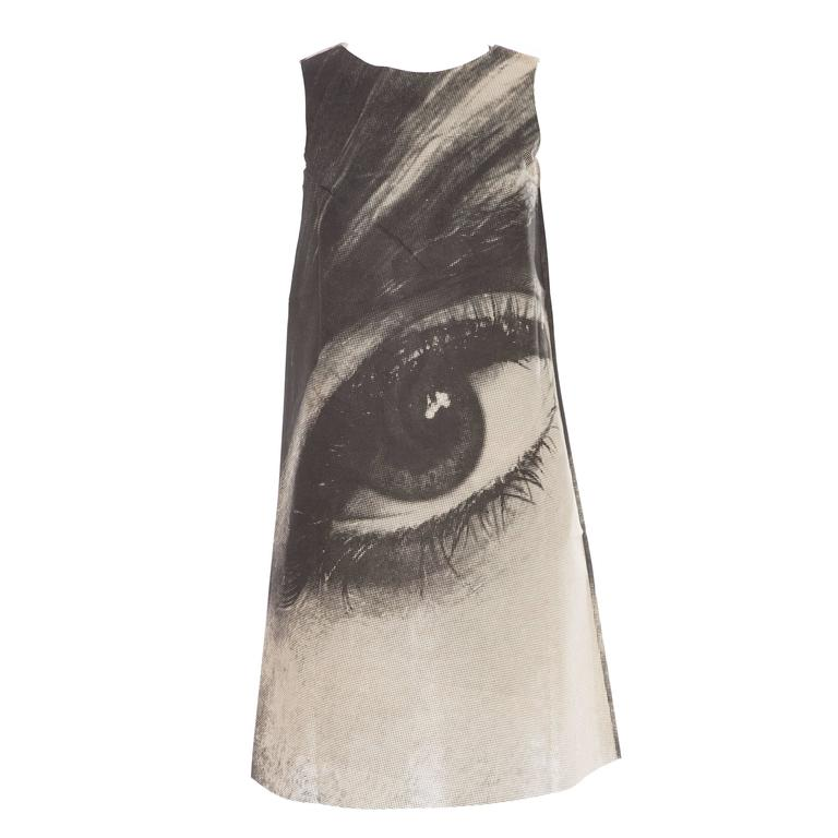 London Series Paper Dress Designed by Harry Gordon Mystic Eye, Circa 1960's 1