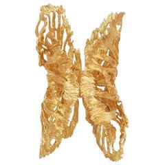Alexander McQueen NEW Gold Filigree Butterfly Cuff Bracelet