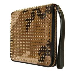 RUNWAY Christian Louboutin 'Camouflage'  WOC with Goldtone Studs