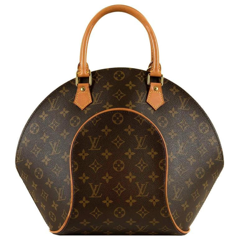 aa90f816f052 Louis Vuitton  Sac Ellipse  GM 26cm Logo Bag with Natural Leather Trim and  Gold HW at 1stdibs