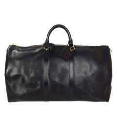 Louis Vuitton Black Epi Keepall 60 Bag
