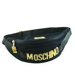 Moschino Vintage 1990s Navy Fanny Pack