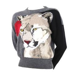 Krizia Maglia Cashmere Animal Series Sweater