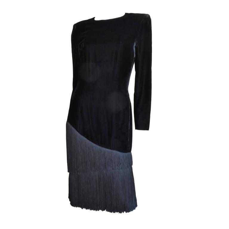 1980S Lanvin Fringe Dress