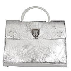 Silver Christian Dior Diorever Satchel