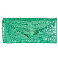 Green LAI Crocodile Clutch