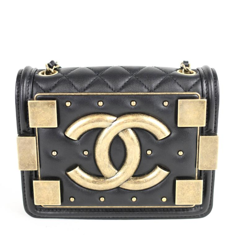 Chanel Black Brick Boy Bag At 1stdibs