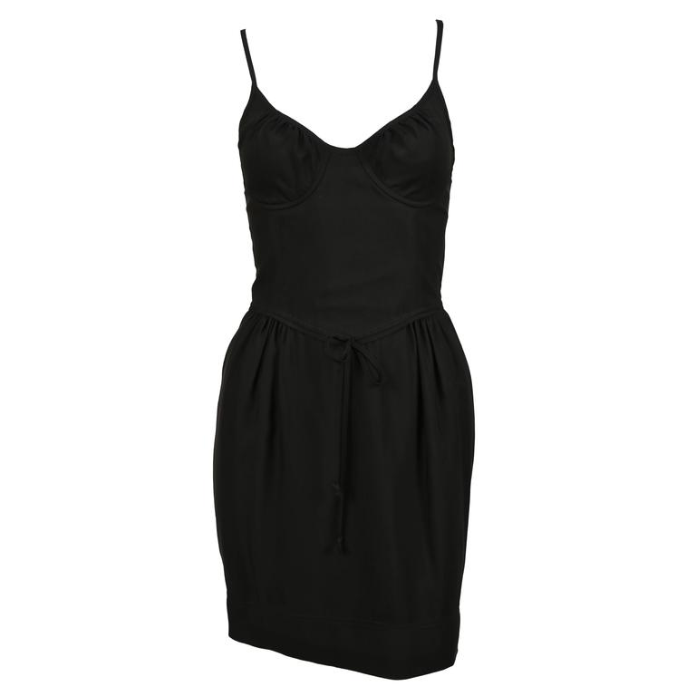 CHEAP AND CHIC by MOSCHINO black bustier minidress 1