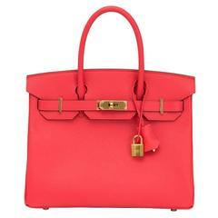 Brand New Hermès Birkin Rose Jaipur 30 Epsom GHW