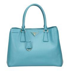 Blue Prada Leather Vitello Daino Ring Hobo Bag at 1stdibs