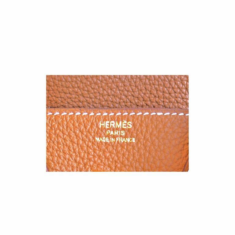 Hermes Gold Baby Birkin 25cm Togo Gold GHW Satchel Jewel  7