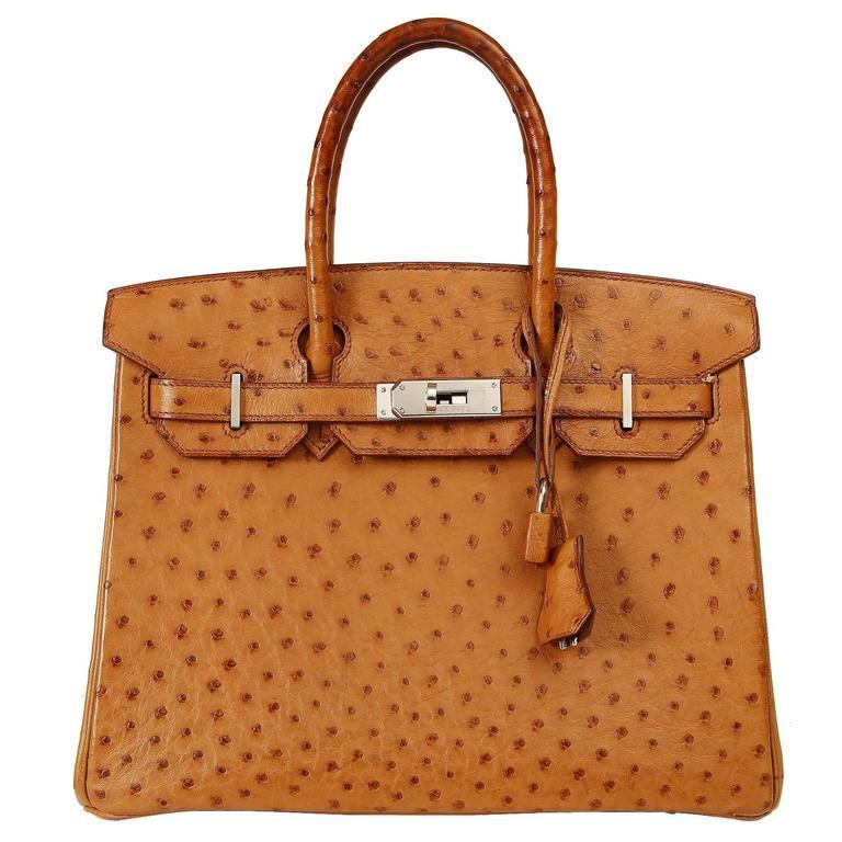 889dea4c98e Hermès Saffron Ostrich Birkin Bag- 30 cm