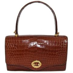 """Gorgeous Hermès """"Boutonnière"""" Handbag 1962 mint"""