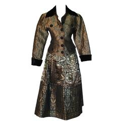 Christian Lacroix Silk Brocade Evening Jacket and Skirt Suit 2pc Byzantine S