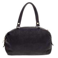 Celine Triple Zip Satchel Pebbled Leather Small