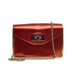 chloe patent leather handle bag