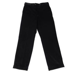 BRIONI Size 32 Black Corduroy Cuffed Hem Dress Pants