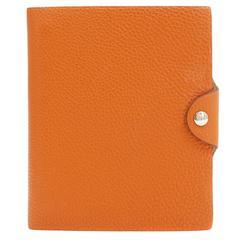 Hermès Orange Togo Leather  Notebook