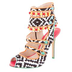 Sophia Webster NEW Multi Color Beaded High Heels Sandals in Box