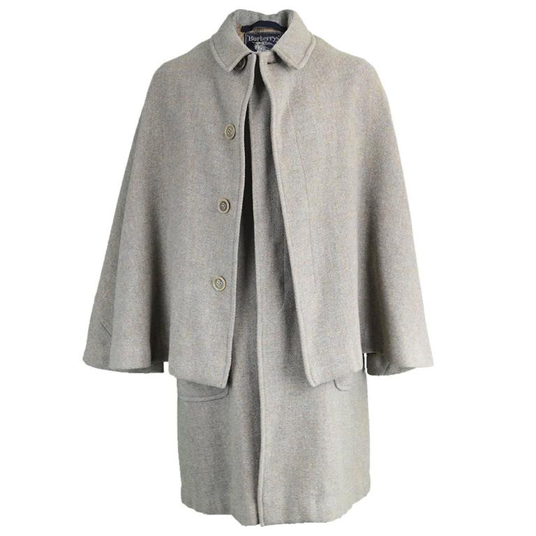 Vintage 1960's Burberry Harris Tweed Men's Cape Coat For Sale at ...