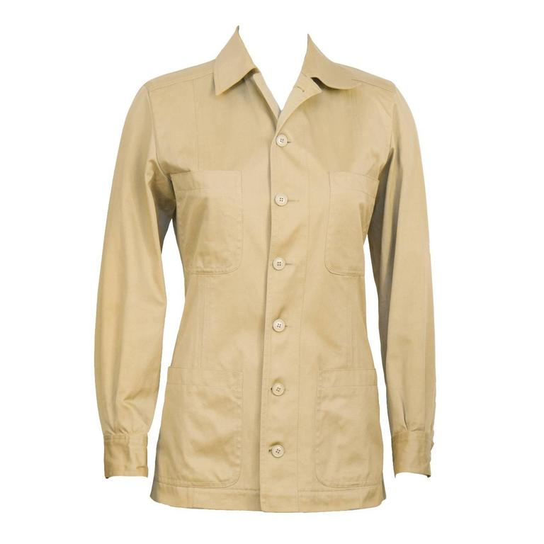 1990's Yves Saint Laurent YSL Rive Gauche Safari Jacket