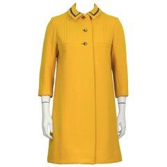 1960's Anonymous Marigold Wool Coat