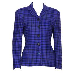 1980's Gianni Versace Purple & Black Blazer