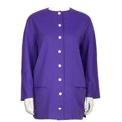 1980's Genny Purple Wool Jacket