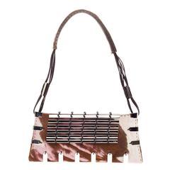 VBH Shoulder Bag Embellished Pony Hair