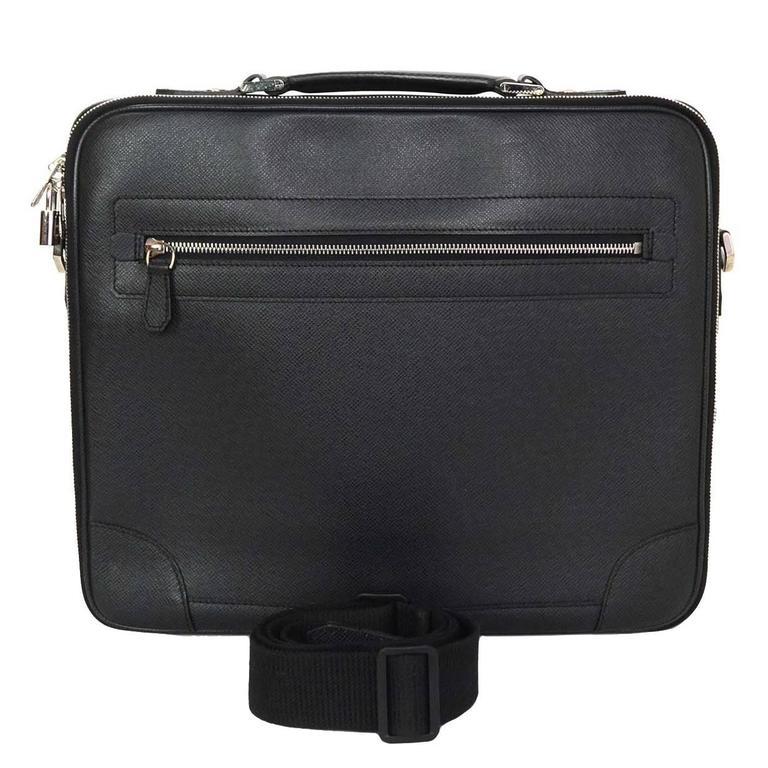43e1af242898 Louis Vuitton Black Taiga Odessa Messenger Laptop Bag SHW rt.  3