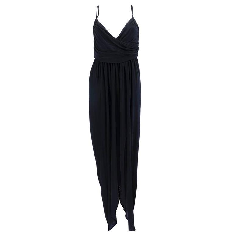 1990s Alexander McQueen Jersey Goddess Gown  1