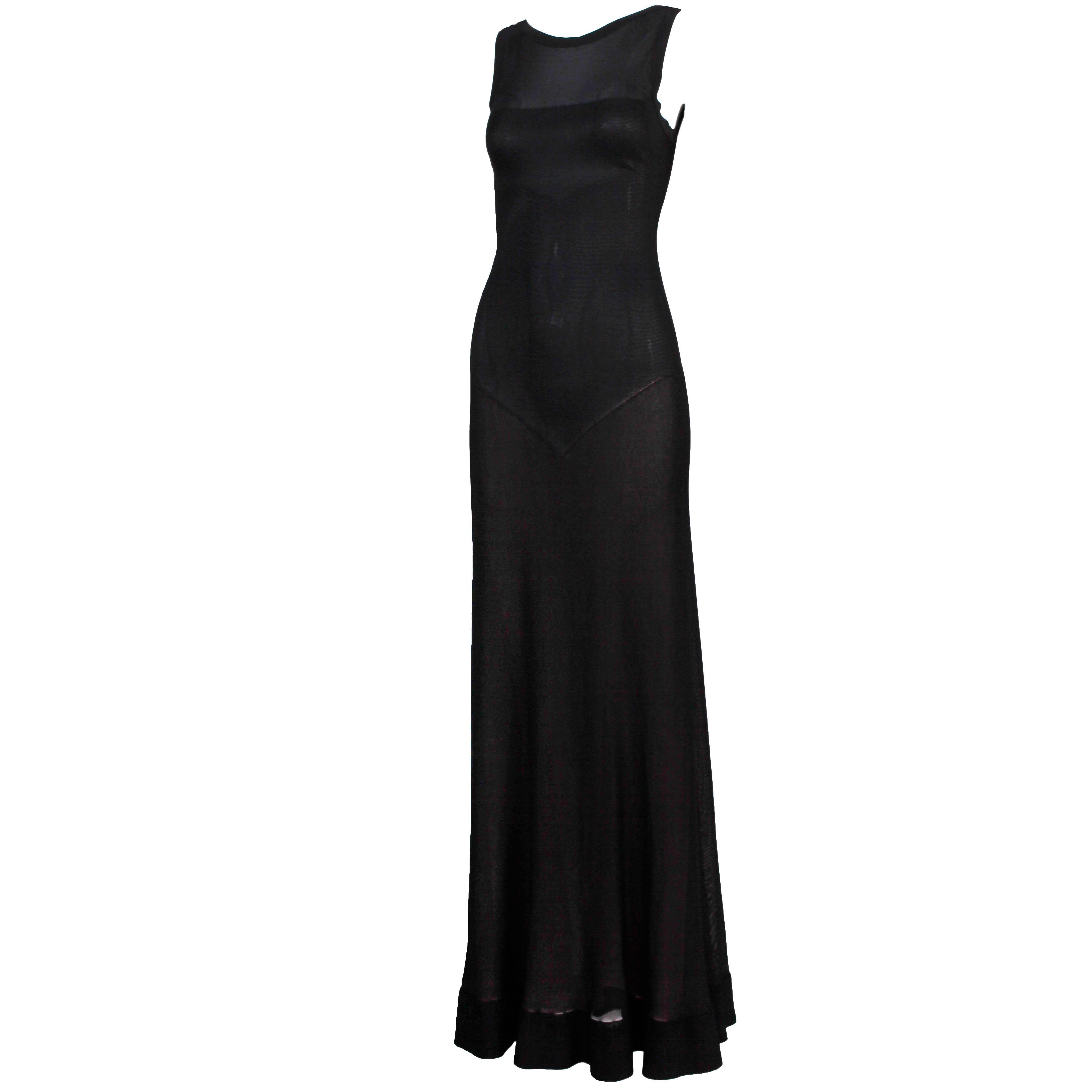 Circa 2005 Azzedine Alaia Black Evening Dress Gown