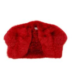 YSL red fox fur bolero jacket