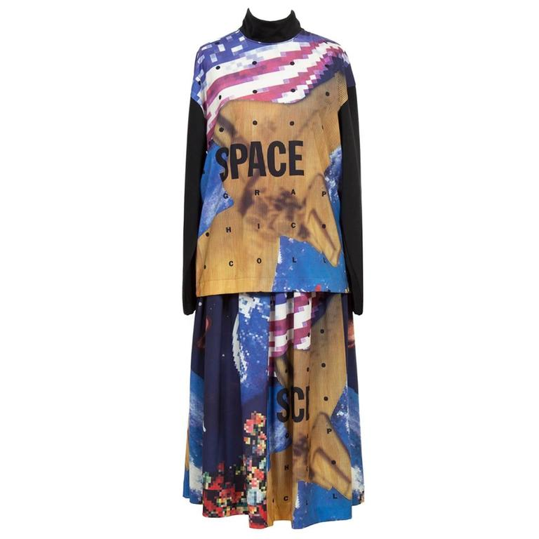 Issey Miyake Sports I.S Space Skirt Ensemble 1980s