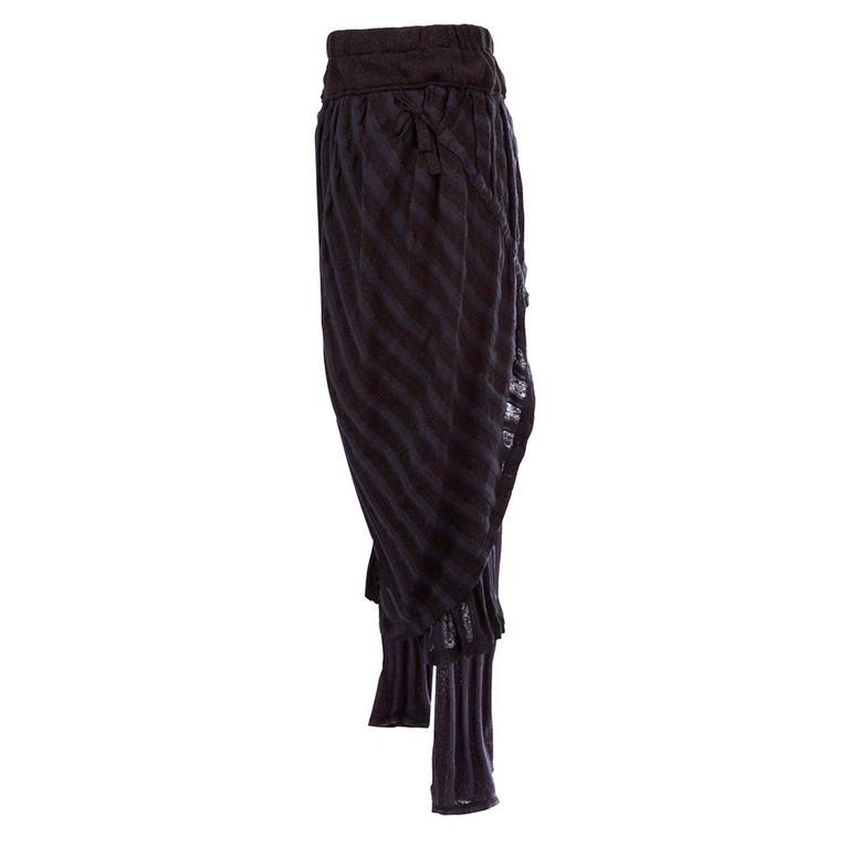 Issey Miyake Draping Woven Legging Skirt Set 1980s