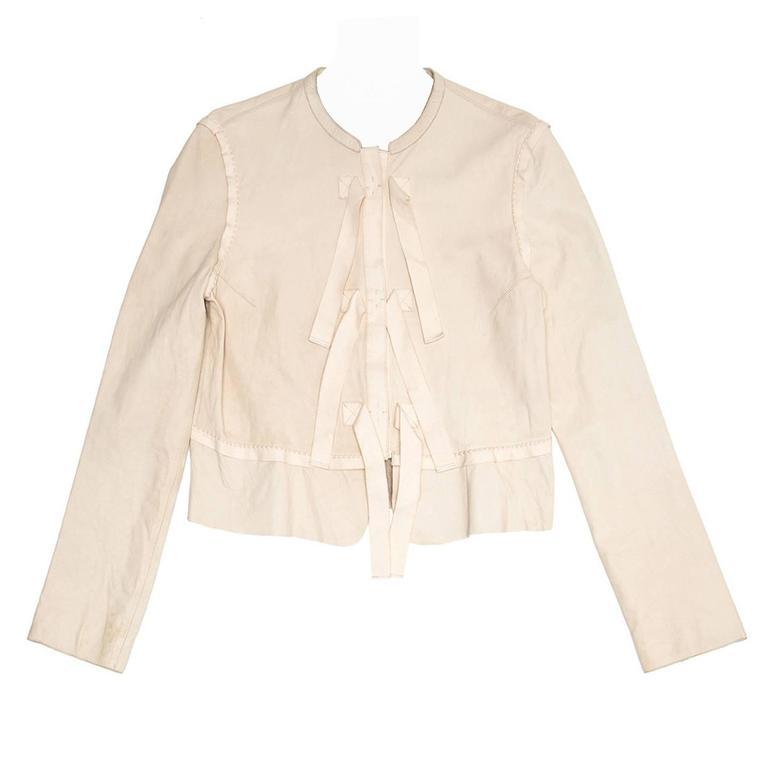 Chloe' Dusty Pink Leather Jacket