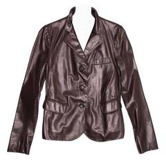 Jil Sander Brown Leather Blazer