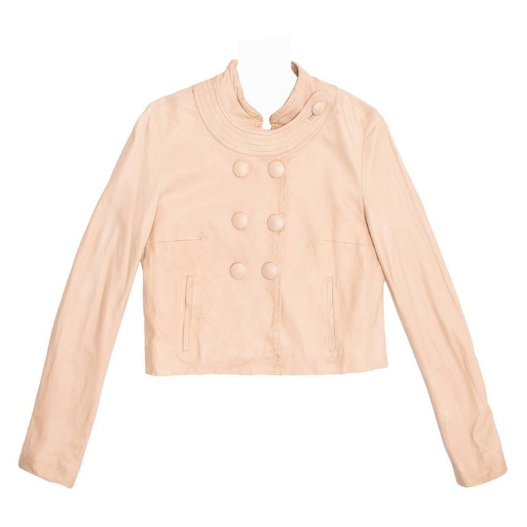 Chloe' Pale Pink Leather Jacket