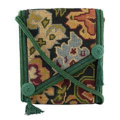 Christian Dior Vintage Kilim Tapestry Cross Body Messenger Bag