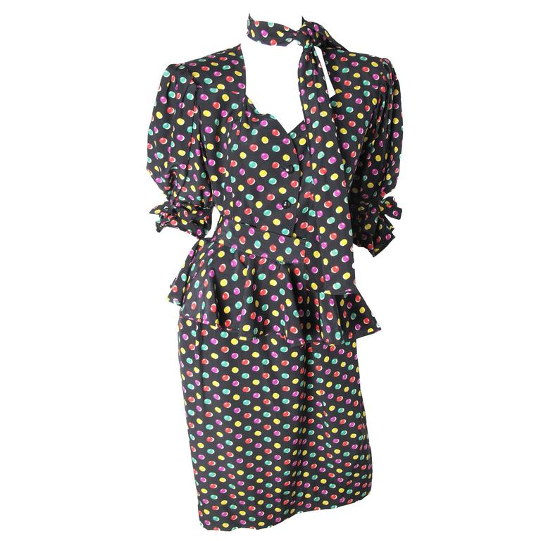 Ungaro Silk Printed Dress For Sale