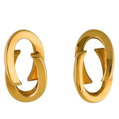 Gucci Gold Interlocking GG Dangle Drop Earrings