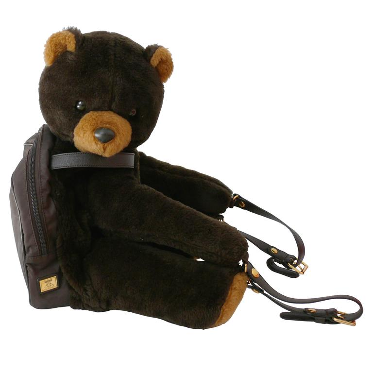 Moschino by Redwall Vintage 1990s Uber Rare Teddy Bear Backpack 1
