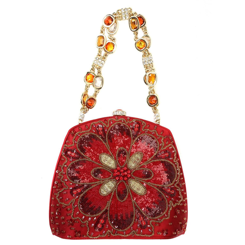 Judith Leiber Red Beaded Evening Bag at 1stdibs